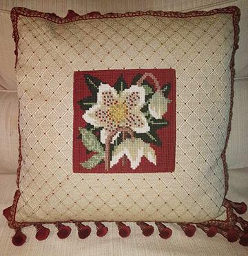 Hellebore Pillow